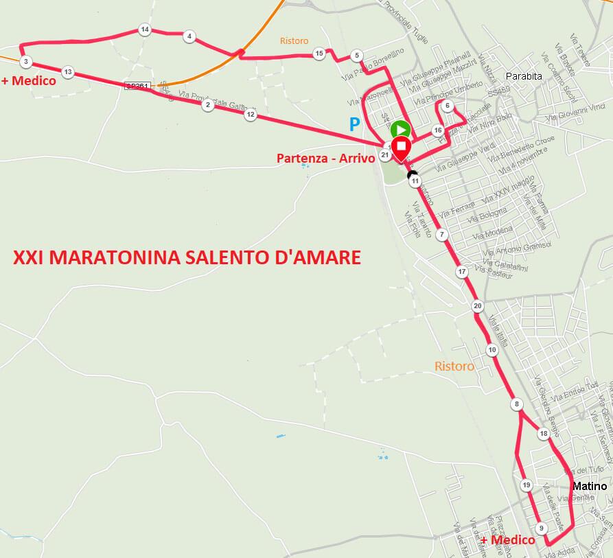 Percorso-omologato maratonina salento d'amare 2020